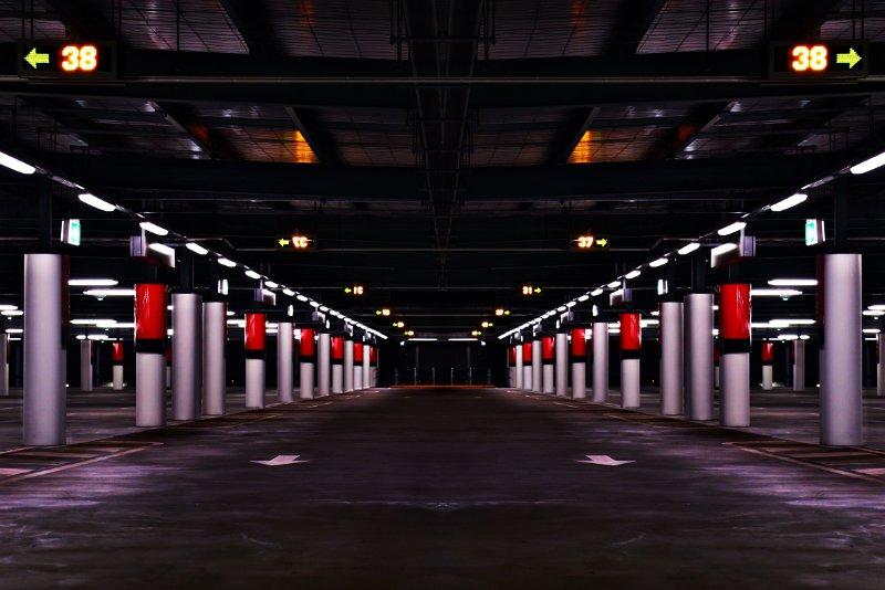 parcheggio illuminato